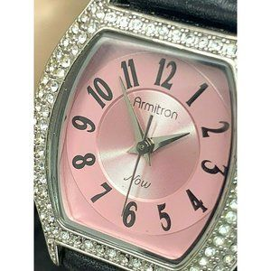 Armitron Now Women's Watch Pink Dial Crystals